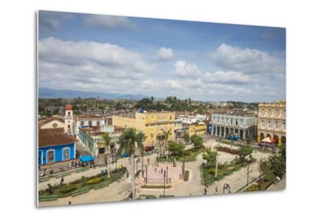 View of Parque Serafin Sanchez, the Main Square, Surrounded by Neoclassical Buildings-Jane Sweeney-Metal Print