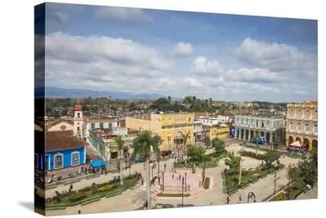 View of Parque Serafin Sanchez, the Main Square, Surrounded by Neoclassical Buildings-Jane Sweeney-Stretched Canvas Print