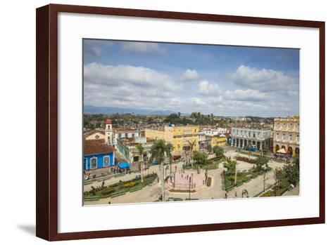 View of Parque Serafin Sanchez, the Main Square, Surrounded by Neoclassical Buildings-Jane Sweeney-Framed Art Print