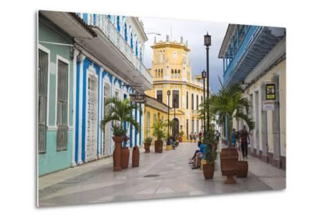 Calle Independencia Sur, Pedestrian Shopping Street, Leading to Colonia Espanola Building-Jane Sweeney-Metal Print
