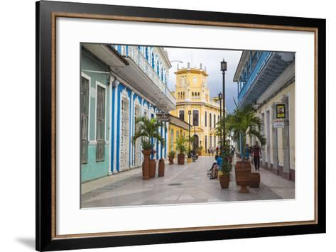 Calle Independencia Sur, Pedestrian Shopping Street, Leading to Colonia Espanola Building-Jane Sweeney-Framed Art Print