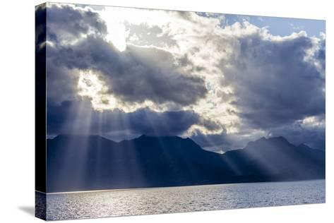 Late Afternoon Light Rays over Isla Del Carmen, Baja California Sur, Mexico, North America-Michael Nolan-Stretched Canvas Print