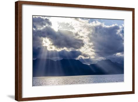 Late Afternoon Light Rays over Isla Del Carmen, Baja California Sur, Mexico, North America-Michael Nolan-Framed Art Print