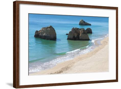 Praia Dos Tres Castelos, Portimao, Algarve, Portugal, Europe-G&M Therin-Weise-Framed Art Print