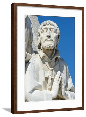 Detail of the Statues, Padrao Dos Descobrimentos (Monument to the Discoveries), Belem-G&M Therin-Weise-Framed Art Print
