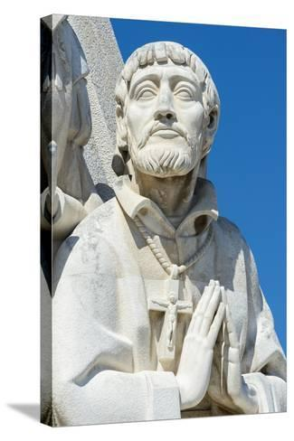 Detail of the Statues, Padrao Dos Descobrimentos (Monument to the Discoveries), Belem-G&M Therin-Weise-Stretched Canvas Print