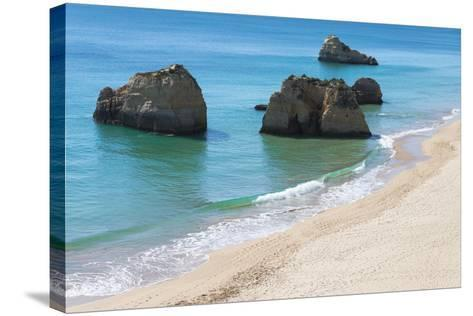 Praia Dos Tres Castelos, Portimao, Algarve, Portugal, Europe-G&M Therin-Weise-Stretched Canvas Print