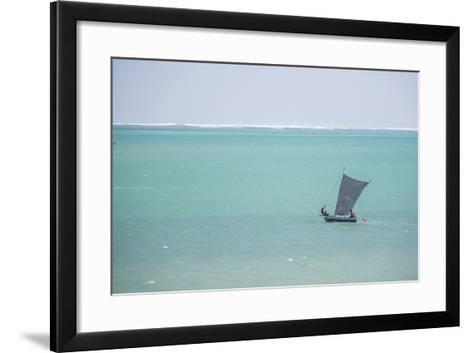 Pirogue, a Traditional Madagascar Sailing Boat, Ifaty Beach, Madagascar, Africa-Matthew Williams-Ellis-Framed Art Print