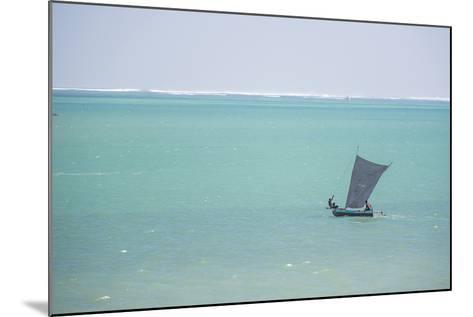 Pirogue, a Traditional Madagascar Sailing Boat, Ifaty Beach, Madagascar, Africa-Matthew Williams-Ellis-Mounted Photographic Print