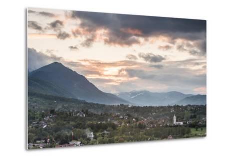 Romanian Countryside Surrounding Bran Castle at Sunset, Transylvania, Romania, Europe-Matthew Williams-Ellis-Metal Print