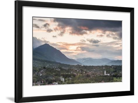 Romanian Countryside Surrounding Bran Castle at Sunset, Transylvania, Romania, Europe-Matthew Williams-Ellis-Framed Art Print