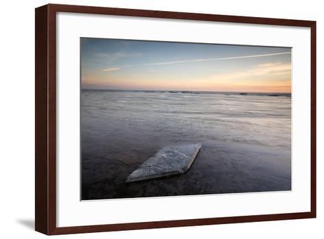 Sunrise, Saltwick Bay, Yorkshire, England, United Kingdom, Europe-Bill Ward-Framed Art Print
