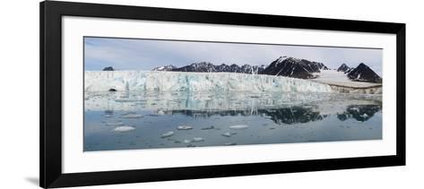 Lilliehook Glacier in Lilliehook Fjord, a Branch of Cross Fjord, Spitsbergen Island-G&M Therin-Weise-Framed Art Print
