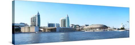 Modern Buildings in Parque Das Nacoes, Lisbon, Portugal, Europe-G&M Therin-Weise-Stretched Canvas Print