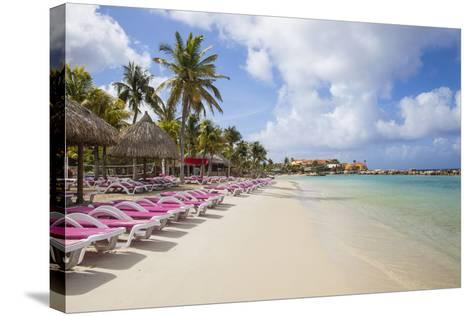 Mambo Beach, Willemstad, Curacao, West Indies, Lesser Antilles-Jane Sweeney-Stretched Canvas Print