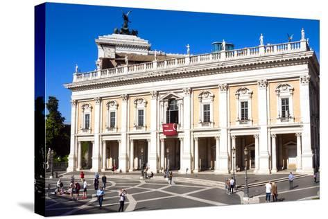 Palazzo Nuovo, Campidoglio, Capitoline Hill, UNESCO World Heritage Site, Rome, Lazio, Italy, Europe-Nico Tondini-Stretched Canvas Print