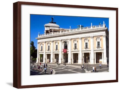 Palazzo Nuovo, Campidoglio, Capitoline Hill, UNESCO World Heritage Site, Rome, Lazio, Italy, Europe-Nico Tondini-Framed Art Print
