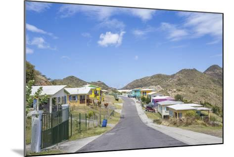 Colorful Houses of a Village on a Spring Sunny Day, Montserrat, Leeward Islands-Roberto Moiola-Mounted Photographic Print