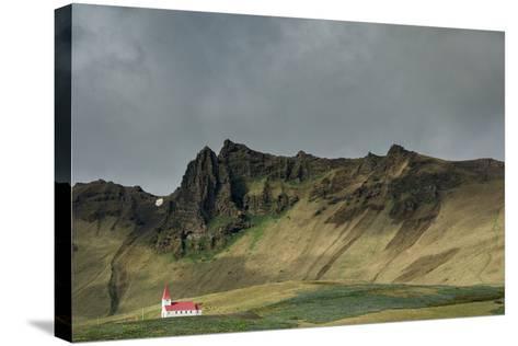 Church, Vik, Iceland, Polar Regions-Bill Ward-Stretched Canvas Print