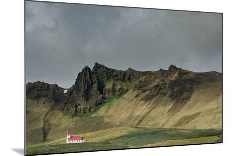 Church, Vik, Iceland, Polar Regions-Bill Ward-Mounted Photographic Print