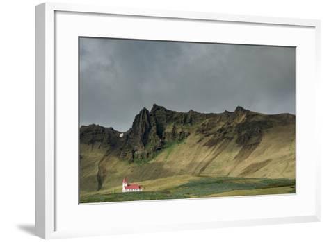 Church, Vik, Iceland, Polar Regions-Bill Ward-Framed Art Print