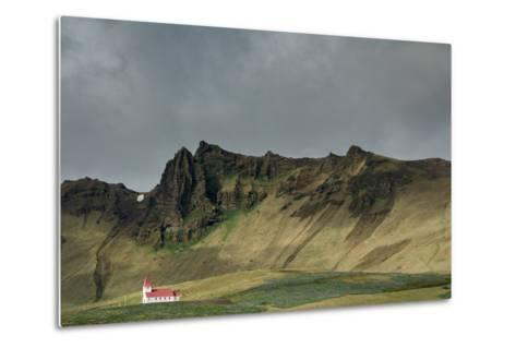 Church, Vik, Iceland, Polar Regions-Bill Ward-Metal Print