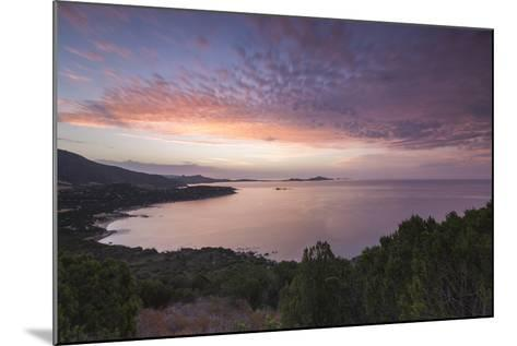 The Colors of Sunrise are Reflected on the Sea around the Beach of Solanas, Villasimius, Cagliari-Roberto Moiola-Mounted Photographic Print