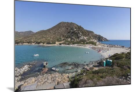 Top View of the Bay with Turquoise Sea and the Sandy Beach, Punta Molentis, Villasimius-Roberto Moiola-Mounted Photographic Print