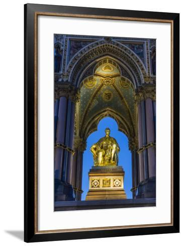 The Albert Memorial in Kensington Gardens at Sundown, London, England, United Kingdom, Europe-Michael Nolan-Framed Art Print