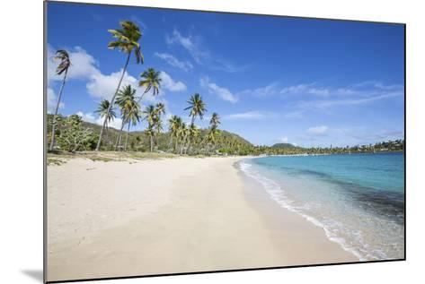 The Long Beach Surrounded by Palm Trees and the Caribbean Sea, Morris Bay, Antigua and Barbuda-Roberto Moiola-Mounted Photographic Print
