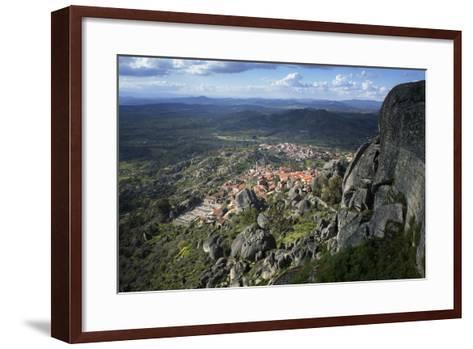 View from the Castle of the Medieval Village of Monsanto in the Municipality of Idanha-A-Nova-Alex Robinson-Framed Art Print