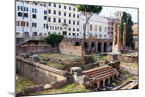 Ruins of Roman Temples at Area Sacra Di Largo Di Torre Argentina, Rome, UNESCO World Heritage Site-Nico Tondini-Mounted Photographic Print