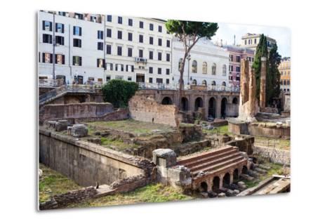 Ruins of Roman Temples at Area Sacra Di Largo Di Torre Argentina, Rome, UNESCO World Heritage Site-Nico Tondini-Metal Print