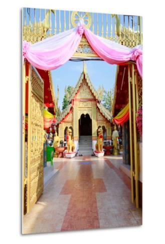 Temple Bot at Doi Kham (Wat Phra That Doi Kham) (Temple of the Golden Mountain), Chiang Mai-Alex Robinson-Metal Print