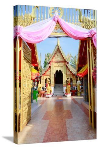 Temple Bot at Doi Kham (Wat Phra That Doi Kham) (Temple of the Golden Mountain), Chiang Mai-Alex Robinson-Stretched Canvas Print