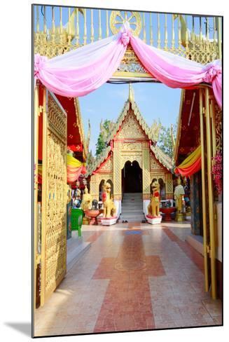 Temple Bot at Doi Kham (Wat Phra That Doi Kham) (Temple of the Golden Mountain), Chiang Mai-Alex Robinson-Mounted Photographic Print