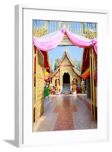 Temple Bot at Doi Kham (Wat Phra That Doi Kham) (Temple of the Golden Mountain), Chiang Mai-Alex Robinson-Framed Art Print