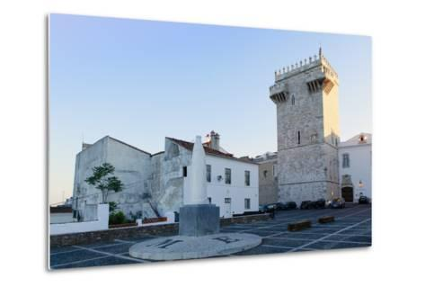The Castle of Estremoz and in the Foreground, Statue of St. Elizabeth (Isabella) of Portugal-Alex Robinson-Metal Print