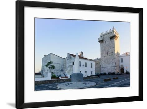 The Castle of Estremoz and in the Foreground, Statue of St. Elizabeth (Isabella) of Portugal-Alex Robinson-Framed Art Print