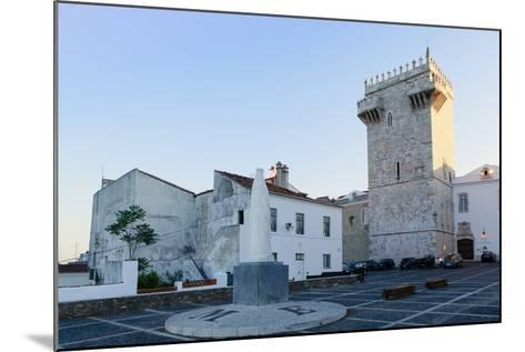 The Castle of Estremoz and in the Foreground, Statue of St. Elizabeth (Isabella) of Portugal-Alex Robinson-Mounted Photographic Print