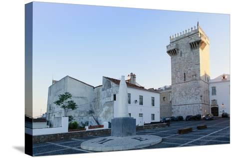 The Castle of Estremoz and in the Foreground, Statue of St. Elizabeth (Isabella) of Portugal-Alex Robinson-Stretched Canvas Print
