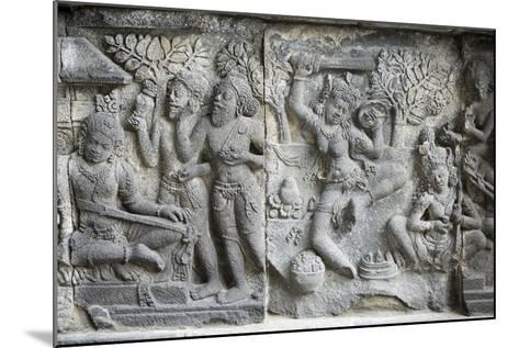 Hindu Carvings on the Prambanan Temples, UNESCO World Heritage Site, Near Yogyakarta-Alex Robinson-Mounted Photographic Print
