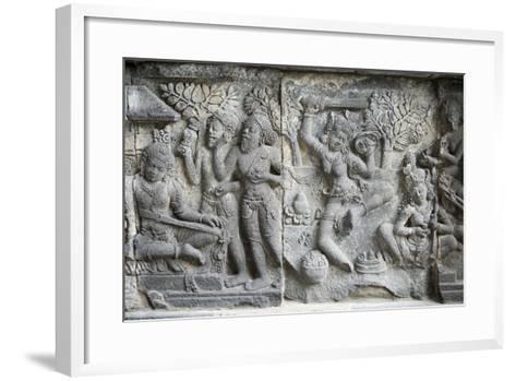 Hindu Carvings on the Prambanan Temples, UNESCO World Heritage Site, Near Yogyakarta-Alex Robinson-Framed Art Print