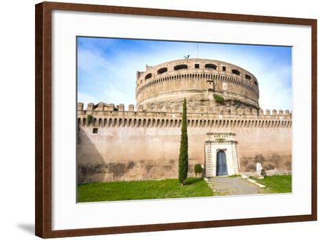 Mausoleum of Hadrian (Castel Sant'Angelo), UNESCO World Heritage Site, Rome, Lazio, Italy, Europe-Nico Tondini-Framed Art Print