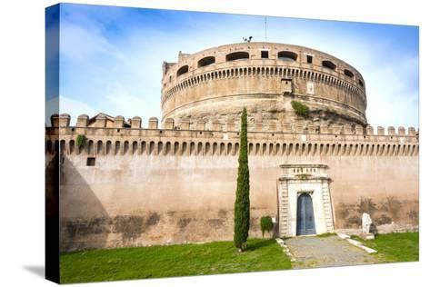 Mausoleum of Hadrian (Castel Sant'Angelo), UNESCO World Heritage Site, Rome, Lazio, Italy, Europe-Nico Tondini-Stretched Canvas Print
