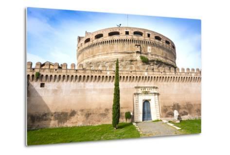 Mausoleum of Hadrian (Castel Sant'Angelo), UNESCO World Heritage Site, Rome, Lazio, Italy, Europe-Nico Tondini-Metal Print