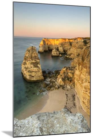 Sunrise on the Cliffs and Turquoise Water of the Ocean, Praia Da Marinha, Caramujeira-Roberto Moiola-Mounted Photographic Print
