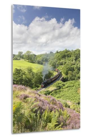 A Steam Locomotive Pulling Carriages Through Darnholme on North Yorkshire Steam Heritage Railway-John Potter-Metal Print