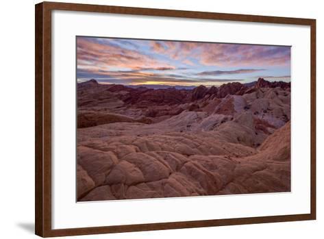 Sunrise over Sandstone Formations, Valley of Fire State Park, Nevada-James Hager-Framed Art Print