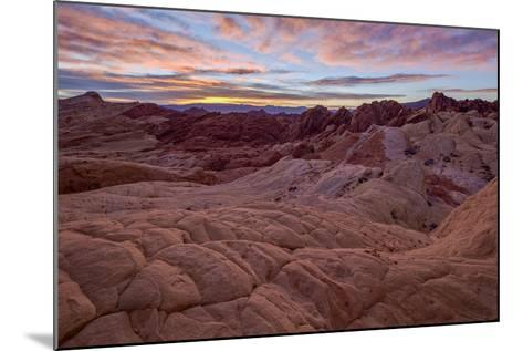 Sunrise over Sandstone Formations, Valley of Fire State Park, Nevada-James Hager-Mounted Photographic Print